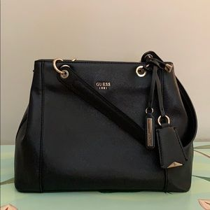 Black guess vegan leather handbag